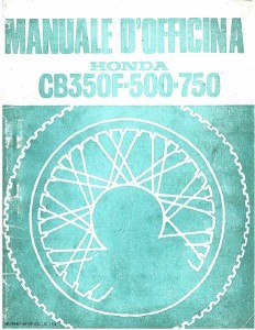 Manuale officina Honda CB500 Four